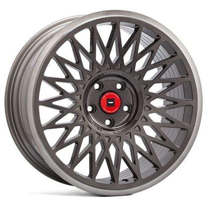 """18"""" Ispiri CSR-FF4 Carbon Grey Polished Lip Alloy Wheels"""