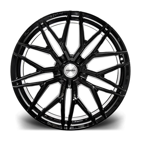 "20"" Riviera RF101 Black Alloy Wheels"