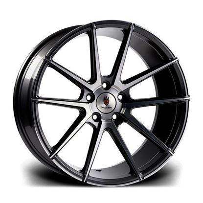 "20"" Stuttgart ST9 Black Polished Alloy Wheels"