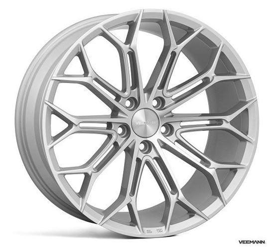 "19"" Veemann V-FS41 Silver Machined Alloy Wheels"