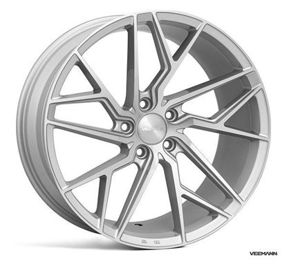 "18"" Veemann V-FS44 Silver Machined"