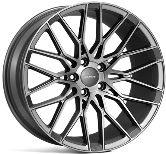 "19"" Veemann V-FS34 GRAPHITE-SMOKE-MACHINED"