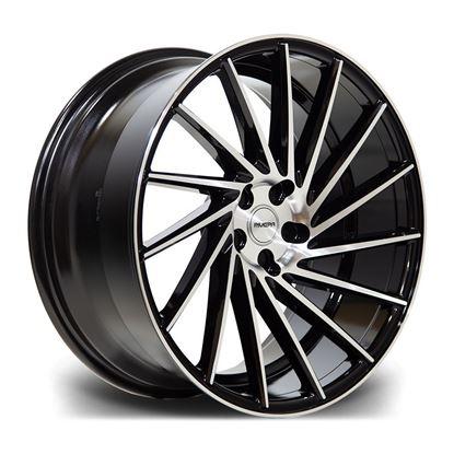 "19"" Riviera RV135 Black Polish Alloy Wheels"