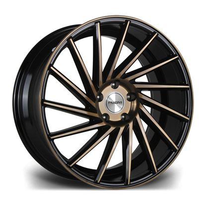 "19"" Riviera RV135 Gloss Black Bronze Alloy Wheels"