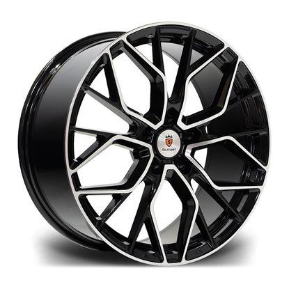 "18"" Stuttgart SF12 Black Polished Alloy Wheels"