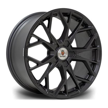 "18"" Stuttgart SF12 Matt Gunmetal Alloy Wheels"