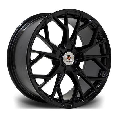 "18"" Stuttgart SF12 Matt Black Alloy Wheels"