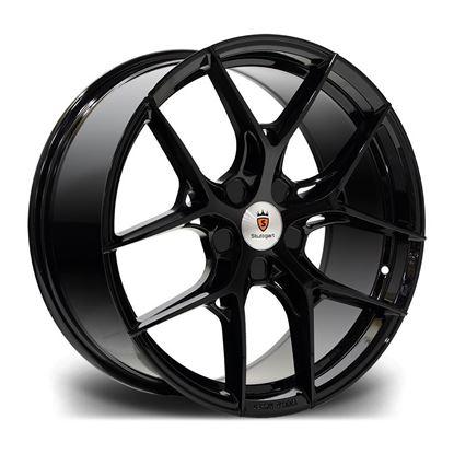 """19"""" Stuttgart SF13 Gloss Black Alloy Wheels"""