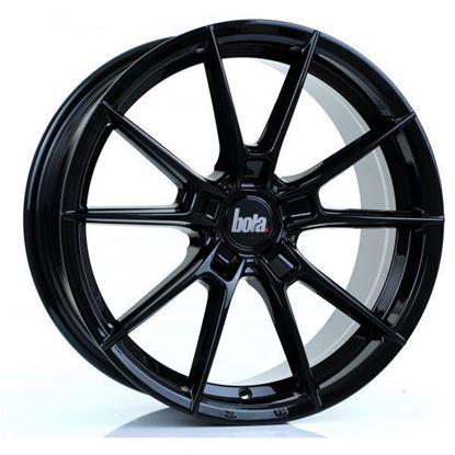 "18"" Bola B19 Gloss Black Alloy Wheels"